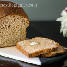 Whole Wheat Bread Recipe, does not use a bread machine | threetimesthegiggles.com