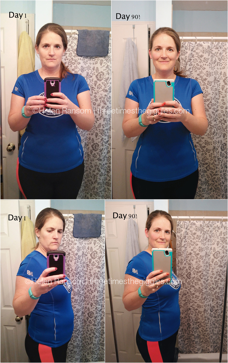 Before & Afters, after completing a Bikini Body Mommy 90 Day Challenge